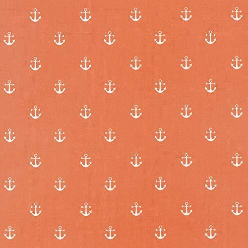 Jolee Stoffen Verbrand Oranje Ankers Katoen Oliedoek Tafelkleed/Veeg Clean Tafelkleed Cover - Rond, Rechthoek of Vierkant