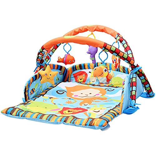YYXLL Baby Gym Activity-Spiel-Matte, Spiel-Gymnastik Neugeborenes, Tätigkeits-Gymnastik Und Spiel-Matte Baby Crawling Mat Baby Gym Spielen Mit Sides,A