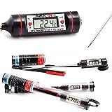 AVAX DT-1–Thermomètre Digital LCD à sonde Thermomètre de cuisine universel pour cuisson, grillade/BBQ, pâtisserie, vin, bière, viande, poisson, thé, Yerba Mate, etc.) //-50C à 300C//– Pile Incluse BLCK