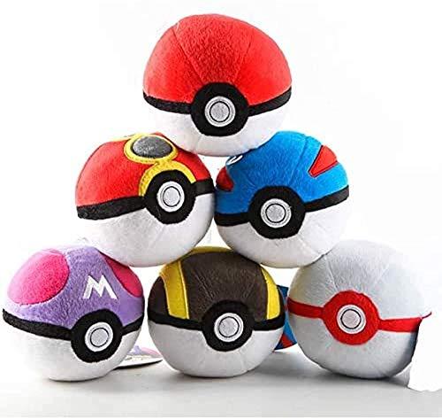 HEWE Plüschtiere Original Pokeball Qualität niedlich 7 cm Plüschtier Anime Plüsch Puppe Kinder Geburtstagsgeschenk Weihnachten Zufällige Art A
