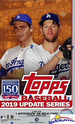 2019 Topps Update MLB Baseball MASSIVE Factory SEALED HOBBY Box with 288 Cards, SILVER PACK & AUTO or RELIC! Look for RC & AUTOS of Vladimir Guerrero Jr, Keston Hiura, Fernando Tatis & More! WOWZZER!