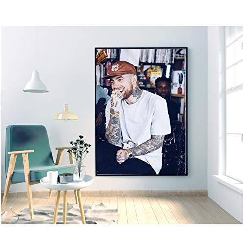 XuFan Mac Miller Hip hop Canvas Poster Gift Wall Decor Wall Art for Living Room Canvas Wall Art Print on canvas/50X70cm-No Frame
