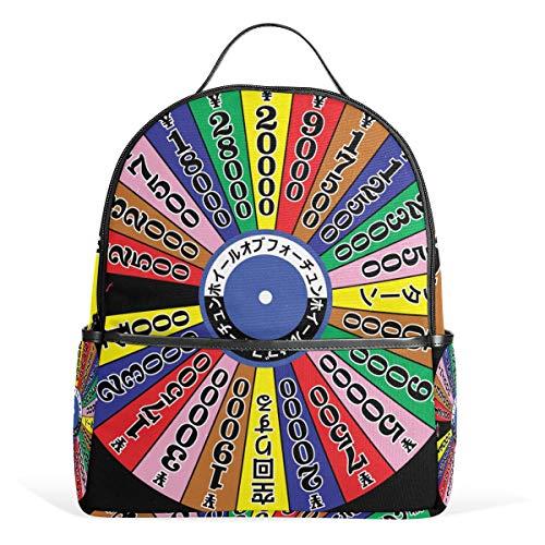 DEZIRO Late jaren 1980 Japanse wiel van Fortune patroon wandelen Daypack rugzakken Daypack Reistas