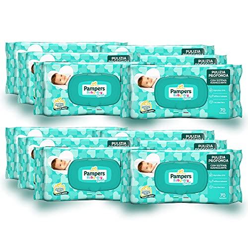 Pampers Baby Fresh reinigingsdoekjes - 12 verpakkingen à 70 stuks