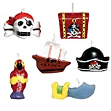 Amscan Pirates Treasure Mini velas moldeadas para tartas