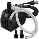 Best Fountain Pumps - PULACO 400GPH Submersible Water Pump with 5 ft Review