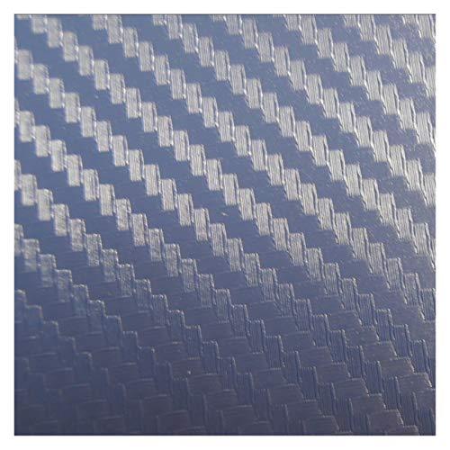 Carbon Folie Carbon-Faser-Vinylauto-Verpackungs-Auto-Aufkleber auf dem auto Motorrad-Auto-Styling-Zubehör Wasserdicht Folie Auto (Color Name : Blue)