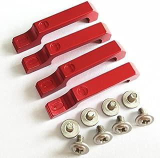 CrazyRacer 4PCS Aluminum Door Handles + Screws Red for RC Car 1/10 TRAXXASSS TRX/4 T4 D90 D110 AXIALLL SCX10
