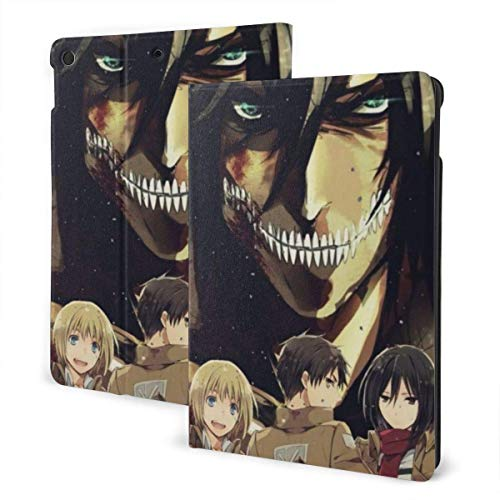 Case For iPad iPad Case Ipad cover Japanese Anime Attack Titan Smart Stand Back Cover Anti-Scratch Auto Wake/Sleep Protective Case