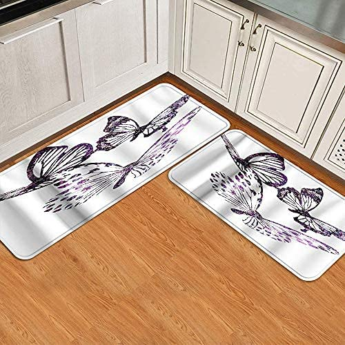Kitchen Floor Mat Set 2pcs Asian red in Sale price and Gold Forest 2021 model Stylized