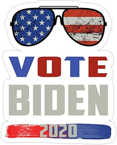 DKISEE (3 PCs/Pack Vote Joe Biden 2020 Us Elections Aviator Gafas de sol troqueladas calcomanías para laptops, ventanillas de coche, parachoques, casco, botella de agua de 4 pulgadas