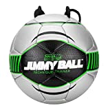 Soccer Innovations Jimmy Ball with Free Home Training Program & Poster, Size 4, Green/Silver