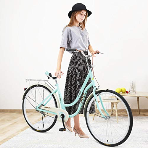 26-Inch Womens Comfort Bikes Beach Adult Cruiser Bike Bicycle Comfortable Bicycle with Step Through Frames Rear Cargo Rack