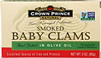 Crown Prince Natural, Smoked Baby Clams, 3 oz (85 g)