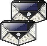 Luz Solar de Exterior 2 Paquetes Luz Solar 100 LED / 3 Modos 270 °...