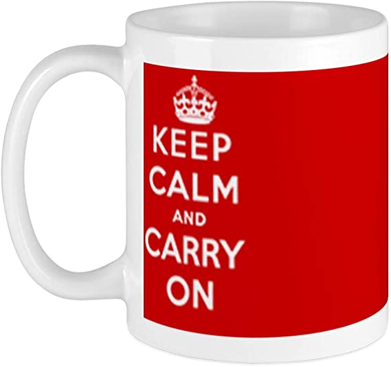 Amazon Com Cafepress Keep Calm And Carry On Mug Unique Coffee Mug Coffee Cup Kitchen Dining