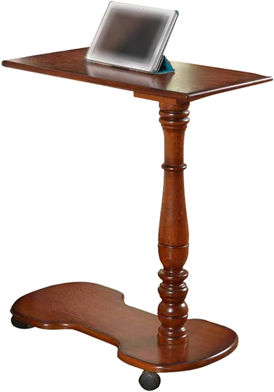 Mobile Table, Home Simple Small Coffee Table Writing Workbench - Sleek Minimalist Wooden Table - Lazy Bedside Table