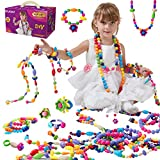 Onew Pop Beads, Jewelry Making Kit - 420 Pcs Snap Pop Beads DIY Arts Crafts Set for Necklace Bracelet, Ring Creativity Toys Ideal Birthday for 3, 4, 5, 6, 7 ,8 Year Old Kids Girls