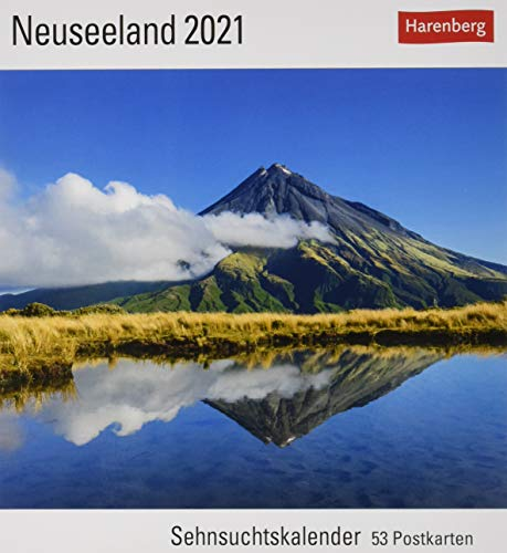 Neuseeland Sehnsuchtskalender 2021 - Postkartenkalender mit Wochenkalendarium - 53 perforierte Postkarten zum Heraustrennen - zum Aufstellen oder ... x 17,5 cm: Sehnsuchtskalender, 53 Postkarten