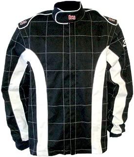 K1 Race Gear 21-TRI-NW-XL Black/White X-Large Single Layer Triumph PROBAN Cotton SFI Rated Fire Jacket