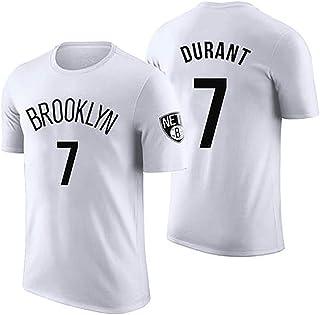 JNAX Costume de Youth Basketball pour Enfants Kevin Durant # 7 Short de Jeu pour Jeunes en Maillot Nickel Brooklyn Nets Haut de Gamme sans Manches /à s/échage Rapide Blanc Gris Noir XS-6XL