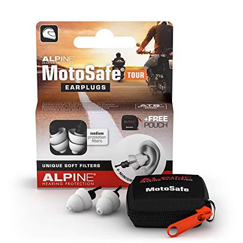 Alpine MotoSafe Tour Bouchons d'oreilles : protections auditives pour la moto - LA référence de tous les motards - Réduit le bruit du vent dans le casque - Hypoallergéniques & réutilisables