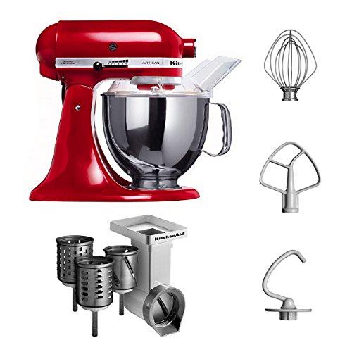 KitchenAid 5KSM150PSECA + MVSA Küchenmaschine, liebesapfel rot