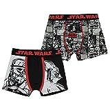 Character Bóxers infantiles para niños, paquete de 2 ropa interior elástica, Star Wars., 5-6 Years