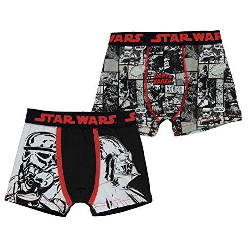 Character Jungen 2 Pack Unterhose Boxershorts Baby Star Wars 7-8 Jahre