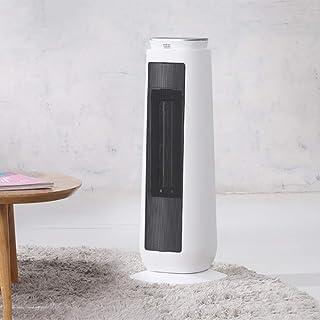 AMYDREAM Calefactor cerámica eléctrico con Control Remoto, Calentador de Ventilador de Torre de oscilación Termostato Regulable Digital Calentador de Torre-Blanco 22x22x58cm(9x9x23)