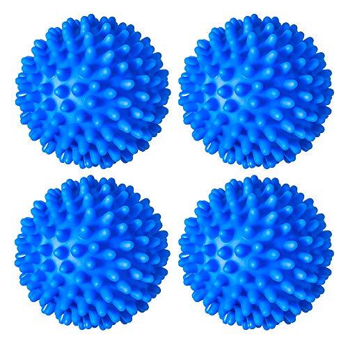 Beymill Paquete de 4 Bolas para Secadora de Ropa Reutilizables Bolas para Secadora de PVC Bolas para Limpieza Secado suavizante de Telas para Lavadora Alternativa de suavizante de Telas