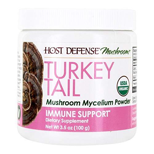 HOST DEFENSE Organic Turkey Tail Mushroom Mycelium Powder, 3.5 OZ