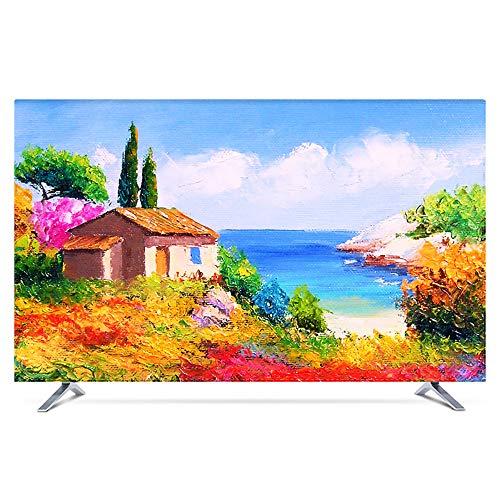 KOIOK Monitor Hülle Monitorabdeckungen Hochauflösender Druck Bildschirmen Deko für 24-80 Zoll Fernseher - 32 Zoll Clearwell