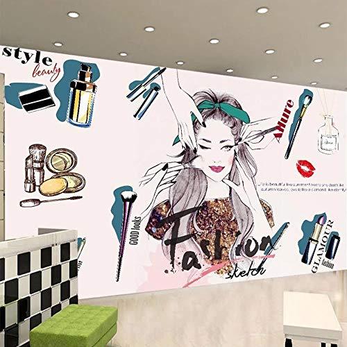 MAZF 3D-Wandbild, modern, handgemaltes Kosmetikstudio, Salon-Hintergrund, Wanddekoration, kreative Kunst-Fototapete, Fresco