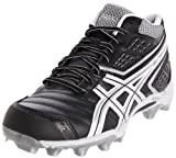ASICS Men's GEL-Provost Lacrosse Cleat,Black/Silver/White,11.5 M US