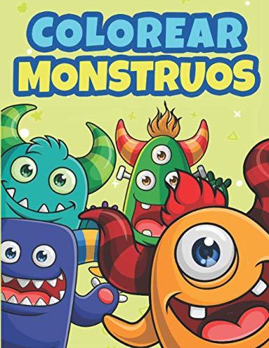 Colorear Monstruos: Libro de Colorear para Niños de 3 a 10 Años