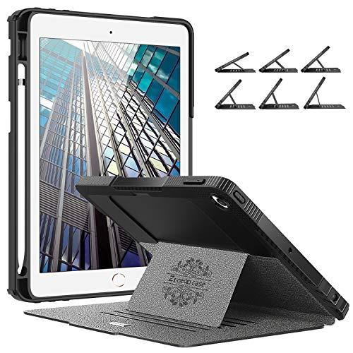 Ztotops Mehrfachwinkel Hülle für iPad 10.2 2019(7th Generation),Stark magnetisch Schutzhülle mit Stifthalter,Stoßfest Sturzfest Hülle,Automatischem Schlaf/Aufwach,für iPad 10,2 Zoll 2019,Grau