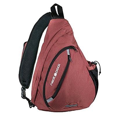 Versatile Canvas Sling Bag / Urban Travel Backpack | Wear Over Shoulder or Crossbody for Men & Women, by NeatPack by