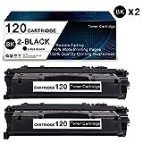 2 Pack Black 120 Compatible Toner Cartridge Replacement for Canon ImageClass D1100 Series D1300 Series D1500 Series D1100 D1120 D1150 D1170 D1180 D1320 D1350 D1370 D1520 Printers Toner Cartridge.
