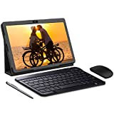 Tablet 10 Pollici, Android 9.0 GO, Google Certificazione GMS, 3GB RAM 32/128GO ROM Tablet PC, 4G LTE Call,8MP Con Tastiera Quad-Core Supporta Netflix/APK, WiFi/Bluetooth/GPS/OTG (nero)