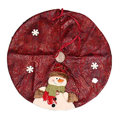 Décoration de Noël, tablier d'arbre de Noël Accessoires de décoration d'arbre de Noël, tridimensionnel 60cm rouge (Color : Red)