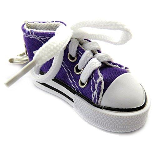 Les Trésors De Lily [L9222] - Porte-clés 'Chaussure de Sport' Violet
