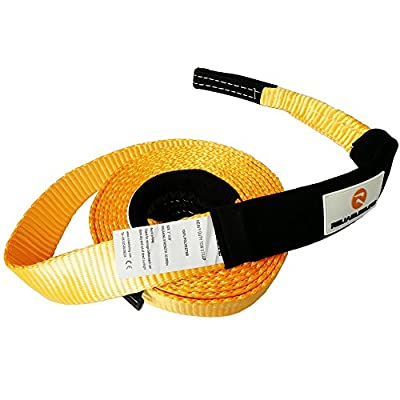 RELIABLESLING Heavy Duty Recovery Tow Straps,Recover Vehicle Stuck in Mud/Snow Winch Snatch Strap-Protective Loops, Road Towing Rope