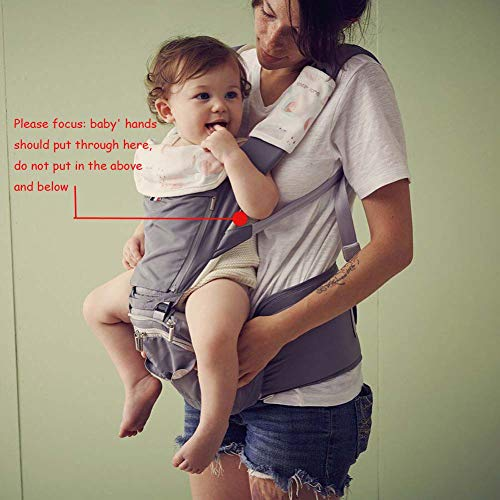 Bebamour Baby Carrier with Hip Seat