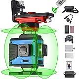 Nivelación láser de líneas cruzadas 4X360, control remoto 4D 16 líneas Rayo verde Lás...