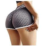 WOBANG Leggings sexys con textura, para yoga, con bolsillo, 2021 gris XXXL