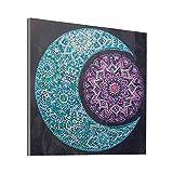 5D DIY Mandala Flower Shaped Diamond Painting kit, Shaped gem Crystal Embroidery Handmade Diamond Painting for Living Room Home Decoration Painting (Blue)