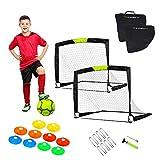 WISHOME Portable Soccer Goal Soccer Net for Backyard Garden Soccer Game Training Equipment for Soccer Practice with Travel Bag