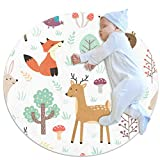 Alfombrilla para gatear Seta de árbol animal Decoración de habitación redonda suave y antideslizante para bebés y niños pequeños 70cm