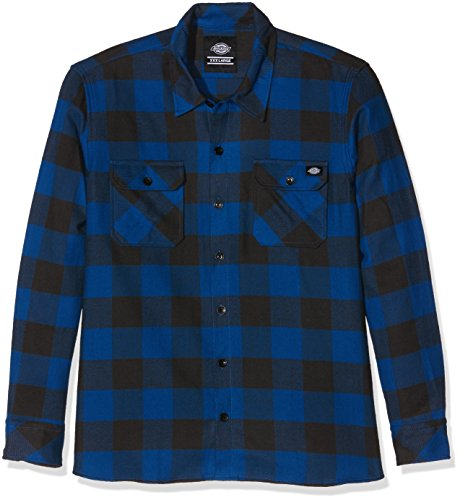 Dickies Sacramento - Chemise casual - Taille normale - Manches longues - Homme - Bleu (Blue) - Taille : Small
